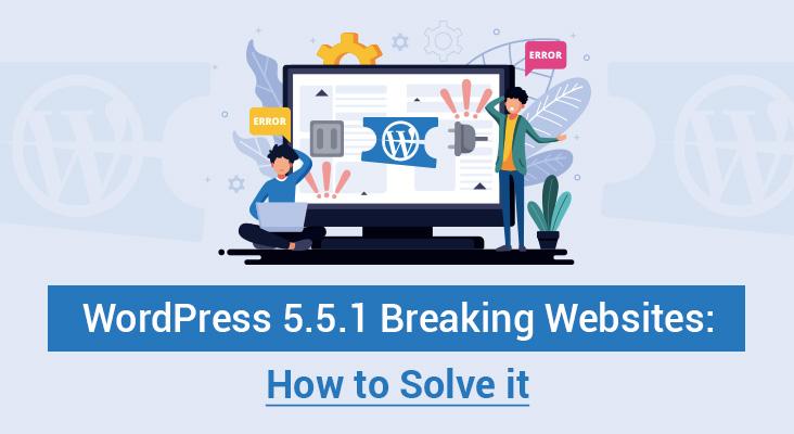 WordPress 5.5.1 Breaking Websites: How to Solve it - Customwp Agency